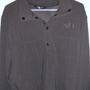 Dark gray North Face Pull over button up